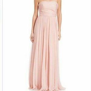 Vera Wang Blush Strapless Bridesmaid Dress size10